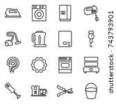 thin line icon set   iron ... | Shutterstock .eps vector #743793901