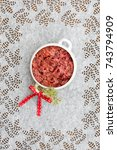 red cabbage casserole finnish... | Shutterstock . vector #743794909