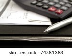 paperwork concept with charts ... | Shutterstock . vector #74381383