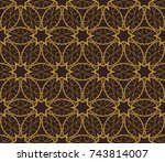 abstract repeat backdrop.... | Shutterstock . vector #743814007