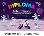 children diploma or certificate ... | Shutterstock .eps vector #743814961