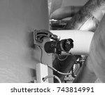 station of flame detector uv...   Shutterstock . vector #743814991