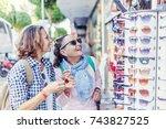 stylish and beautiful mature... | Shutterstock . vector #743827525
