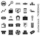 shiner icons set. simple set of ... | Shutterstock . vector #743830441