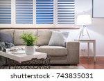 light coloured lounge room  ... | Shutterstock . vector #743835031