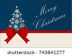 christmas card.  gift card with ... | Shutterstock .eps vector #743841277