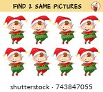 Funny Christmas Elf. Find Two...