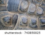 a closeup of the weathered... | Shutterstock . vector #743850025