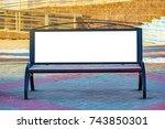 billboard with blank white copy ... | Shutterstock . vector #743850301
