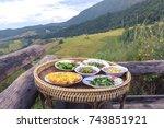 thai traditional food set ... | Shutterstock . vector #743851921