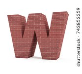 red brick alphabet isolated on... | Shutterstock . vector #743853259