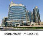 doha  qatar   july 21  2017  ... | Shutterstock . vector #743855341