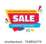 sale   concept banner vector...   Shutterstock .eps vector #743856274