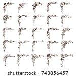 vintage ornaments design... | Shutterstock .eps vector #743856457
