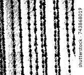 grunge black white. monochrome... | Shutterstock .eps vector #743868019