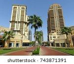 doha  qatar   july 21  2017 ...   Shutterstock . vector #743871391