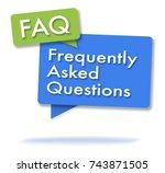 faq initals in two colored... | Shutterstock . vector #743871505