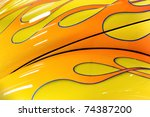 colorful flaming paintwork on a ...