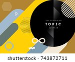 vector of abstract geometric... | Shutterstock .eps vector #743872711