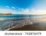 malibu pier at sunset ... | Shutterstock . vector #743876479