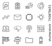 thin line icon set   search... | Shutterstock .eps vector #743878651