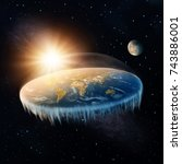 Flat Earth In Space With Sun...