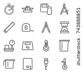 thin line icon set   stopwatch  ... | Shutterstock .eps vector #743888851