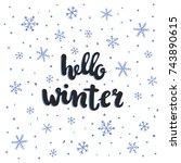 vector hand written lettering ...   Shutterstock .eps vector #743890615