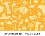 seamless background with... | Shutterstock .eps vector #743891155