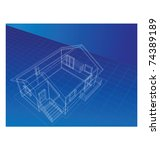 drawing in isometric projection ... | Shutterstock .eps vector #74389189