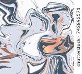 liquid marble texture design ... | Shutterstock .eps vector #743892571