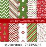 ten christmas different... | Shutterstock .eps vector #743893144