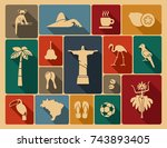 traditional symbols of culture... | Shutterstock .eps vector #743893405