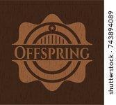 offspring retro style wooden... | Shutterstock .eps vector #743894089