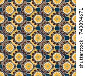 new color seamless pattern with ... | Shutterstock . vector #743894671