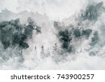 abstract art work showing a... | Shutterstock . vector #743900257