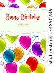 happy birthday background with... | Shutterstock .eps vector #74390236