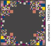 abstract geometric colored... | Shutterstock . vector #743921674