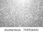 silver and white glitter... | Shutterstock . vector #743926441