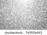 silver and white glitter... | Shutterstock . vector #743926441