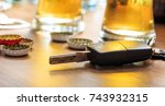 drinking and driving concept.... | Shutterstock . vector #743932315
