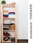 order in the closet. capsule... | Shutterstock . vector #743936539