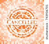 cancelled abstract emblem ... | Shutterstock .eps vector #743936701
