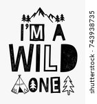 i'm a wild one slogan graphic... | Shutterstock .eps vector #743938735