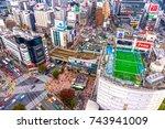 tokyo  japan   november 12 ... | Shutterstock . vector #743941009