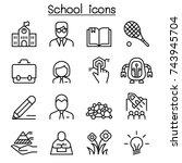school  education   learning... | Shutterstock .eps vector #743945704