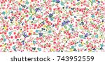 seamless pattern in small...   Shutterstock . vector #743952559