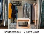 a well organized closet. all... | Shutterstock . vector #743952805