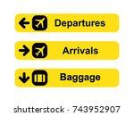 airport sign set | Shutterstock .eps vector #743952907