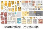 vector set. construction. top... | Shutterstock .eps vector #743958685
